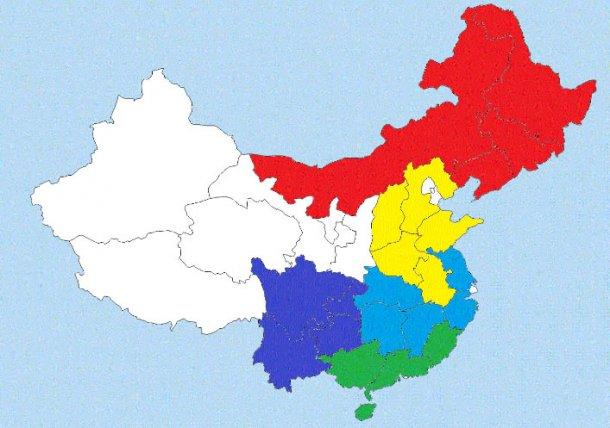 Карта распределения свиноводства в Китае