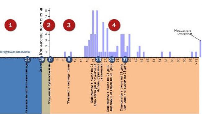 Анализ повторного эструса в течение неблагоприятного периода